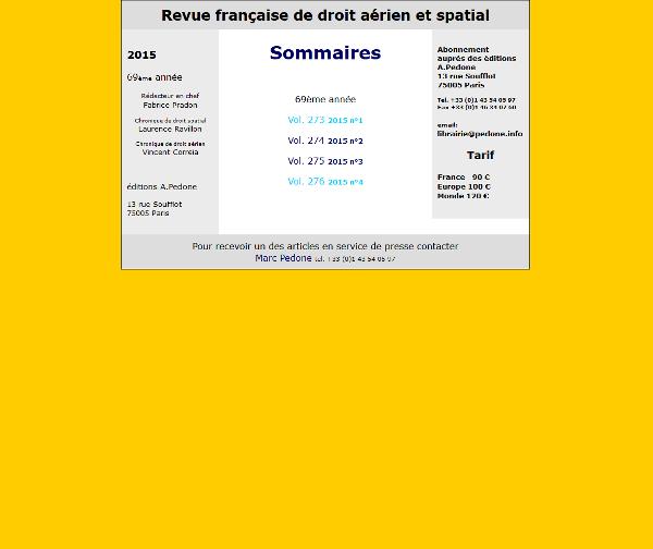 Revue Française de Droit Aérien et Spatial